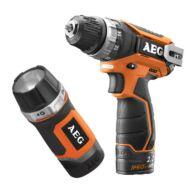 AEG fúrócsavarozó BS 12 C2 Li 202B KIT + 1 akkumulátoros lámpa