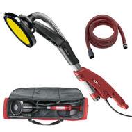 GSE 5 R kompakt rövidszárú padló- és falmegmunkáló Okapi® csapott élszegmensű fejjel, hordtáskában, elszívócsővel
