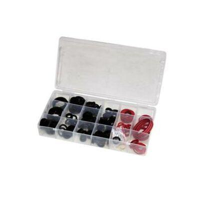 Tömítőgyűrű szortiment 160 részes, gumi és fíber