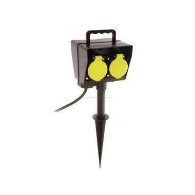 Leszúrható 2 bizt.dugalj, időzítő 230 V kb. 2m H05RN-F