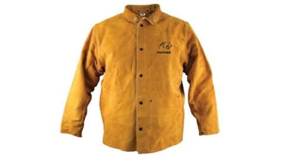 67e8a000c1 Parweld hegesztő bőrkabát prémium sárga - Hegesztő kabátok